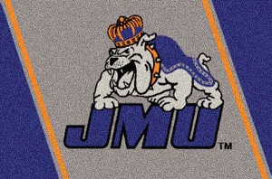 James Madison Dukes Team Logo Area Rug