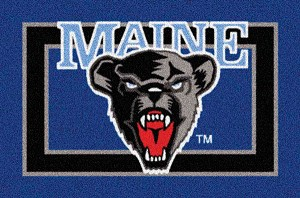 Maine Black Bears Team Logo Area Rug