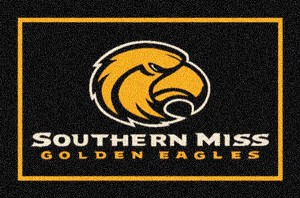Southern Mississippi Golden Eagles Team Logo Area Rug