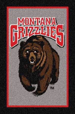 Montana Grizzlies Team Logo Area Rug
