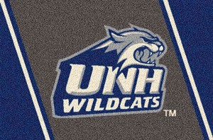 New Hampshire Wildcats Team Logo Area Rug