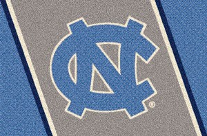 North Carolina Tar Heels Team Logo Area Rug