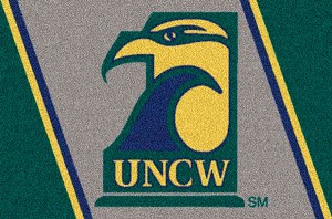 UNC Wilmington Seahawks Team Logo Area Rug