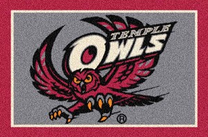 Temple Owls Alternate Team Logo Area Rug