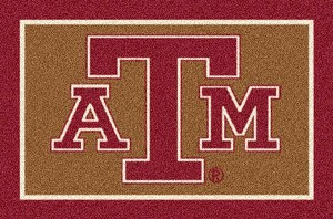 Texas A&M Aggies Team Logo Area Rug