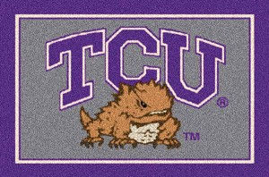 Texas Christian University Horned Frogs Team Logo Area Rug