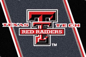 Texas Tech Red Raiders Team Logo Area Rug