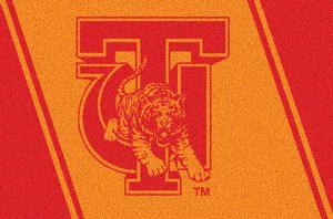 Tuskegee Golden Tigers Team Logo Area Rug
