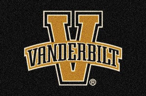 Vanderbilt Commodores Team Logo Area Rug