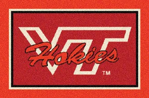 Virginia Tech Hokies Alternate 2 Team Logo Area Rug