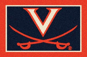 Virginia Cavaliers Alternate Team Logo Area Rug