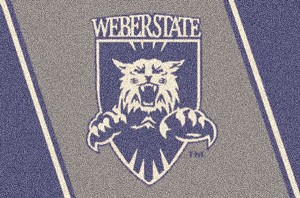Weber State Wildcats Team Logo Area Rug