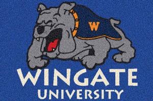 Wingate University Bulldogs Team Logo Area Rug