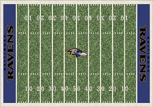 Baltimore Ravens Home Field Area Rug