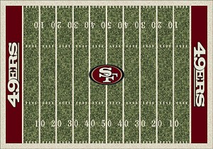 San Francisco 49ers Home Field Area Rug