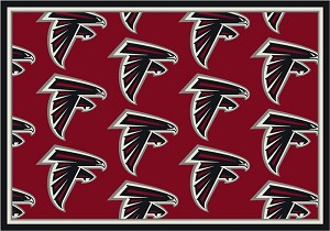 Atlanta Falcons Repeat Logo Area Rug