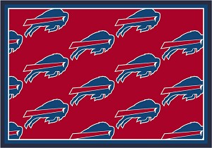 Buffalo Bills Repeat Logo Area Rug
