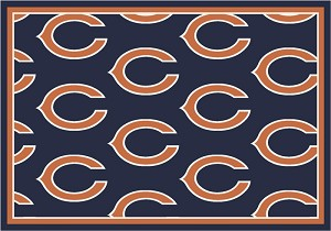 Chicago Bears Repeat Logo Area Rug