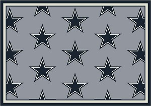 Dallas Cowboys Repeat Logo Area Rug