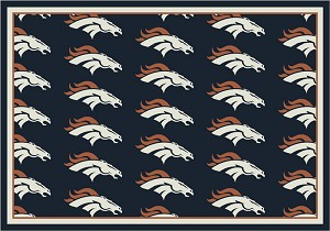 Denver Broncos Repeat Logo Area Rug