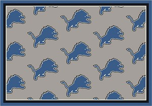 Detroit Lions Repeat Logo Area Rug 2