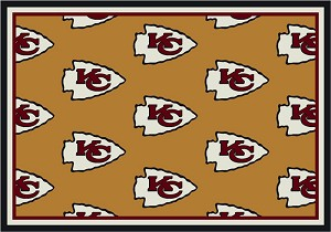 Kansas City Chiefs Repeat Logo Area Rug