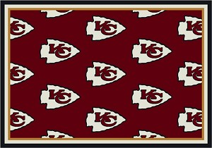 Kansas City Chiefs Repeat Logo Area Rug 2