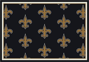 New Orleans Saints Repeat Logo Area Rug