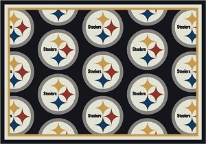 Pittsburgh Steelers Repeat Logo Area Rug 2