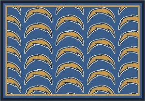 San Diego Chargers Repeat Logo Area Rug