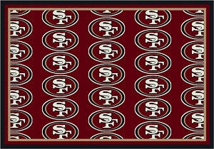 San Francisco 49ers Repeat Logo Area Rug