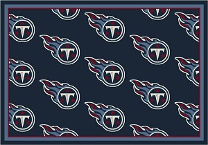 Tennessee Titans Repeat Logo Area Rug