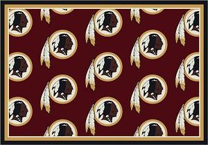 Washington Redskins Repeat Logo Area Rug 2