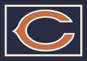 Chicago Bears Team Logo Area Rug