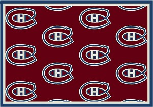 Montreal Canadians Repeat Logo Area Rug