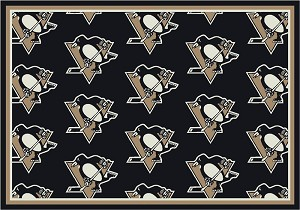 Pittsburgh Penguins Repeat Logo Area Rug
