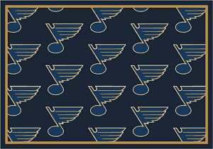 St Louis Blues Repeat Logo Area Rug