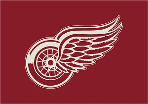 Detroit Redwings Team Logo Area Rug