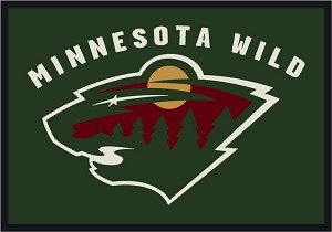 Minnesota Wild Team Logo Area Rug