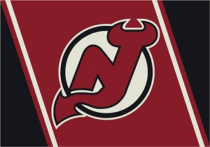 New Jersey Devils Team Logo Area Rug