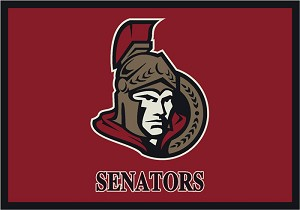Ottawa Senators Team Logo Area Rug