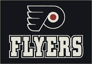 Philadelphia Flyers Team Logo Area Rug