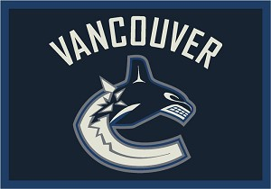 Vancouver Canucks Team Logo Area Rug