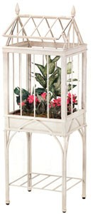 English Tudor Distressed White Terrarium