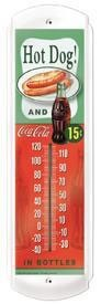 Coke Hot Dog Outdoor Thermometer