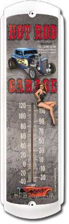 Hot Rod Garage Outdoor Thermometer