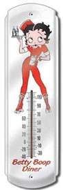 Betty Boop Diner Outdoor Thermometer