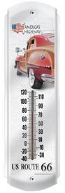 Route 66 Woody Outdoor Thermometer