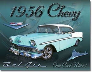 Chevy 1956 Bel Air Tin Sign