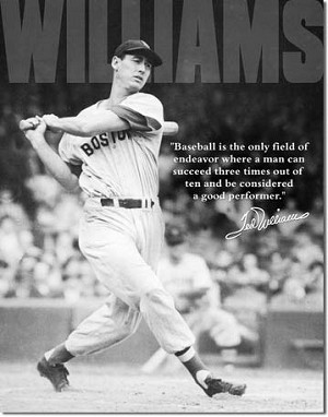 Ted Williams Photo Tin Sign